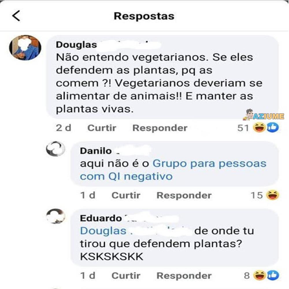 Não entendo vegetarianos