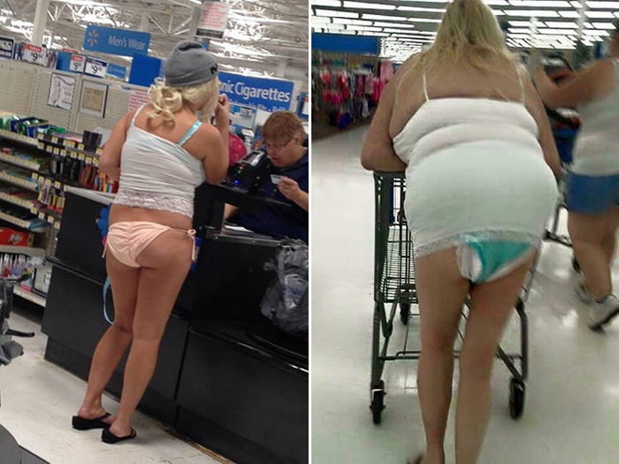 Pessoas estranhas no Walmart