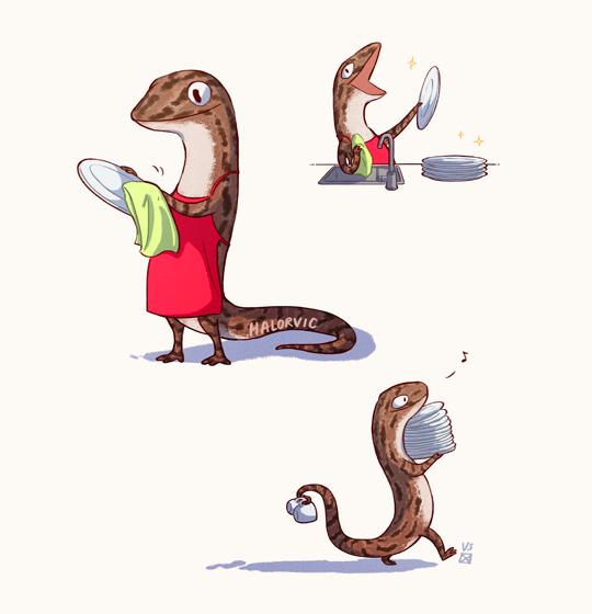 A vida de uma lagartixa