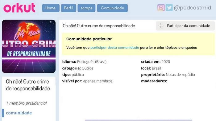 Comunidades do Orkut que eu criaria em 2021