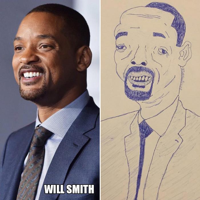 Retratos de celebridades divertidamente ruins do Picasso do Twitter