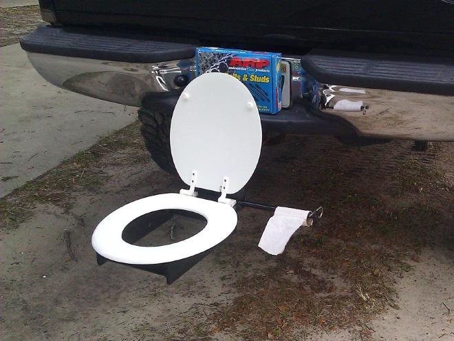 O pára-choques basculante é um banheiro portátil