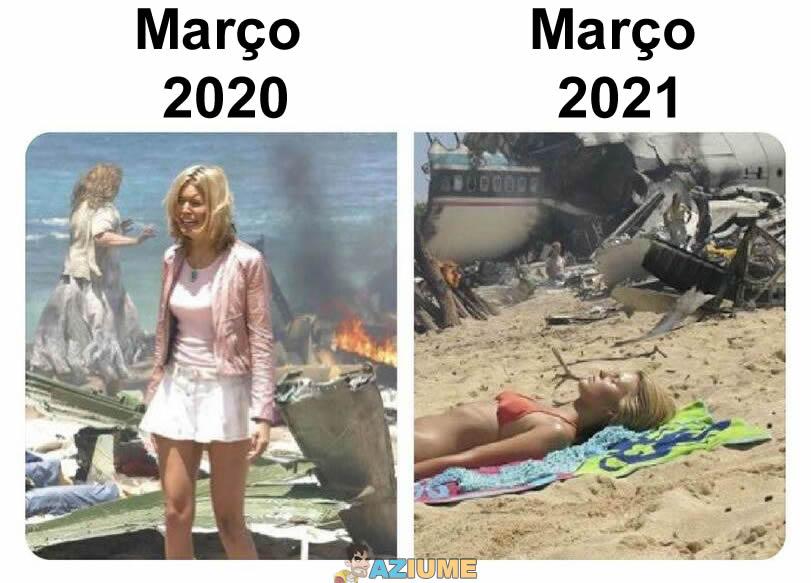 Diferença entre Março de 2020 e 2021
