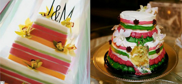 Expectativa e realidade bolo de casamento