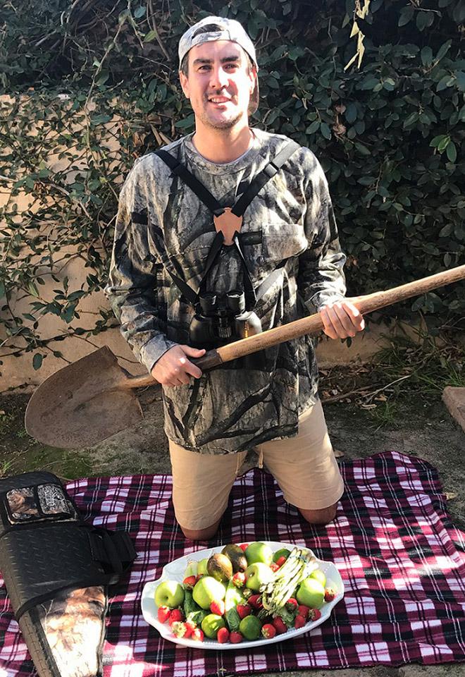 Quando vegano resolve caça