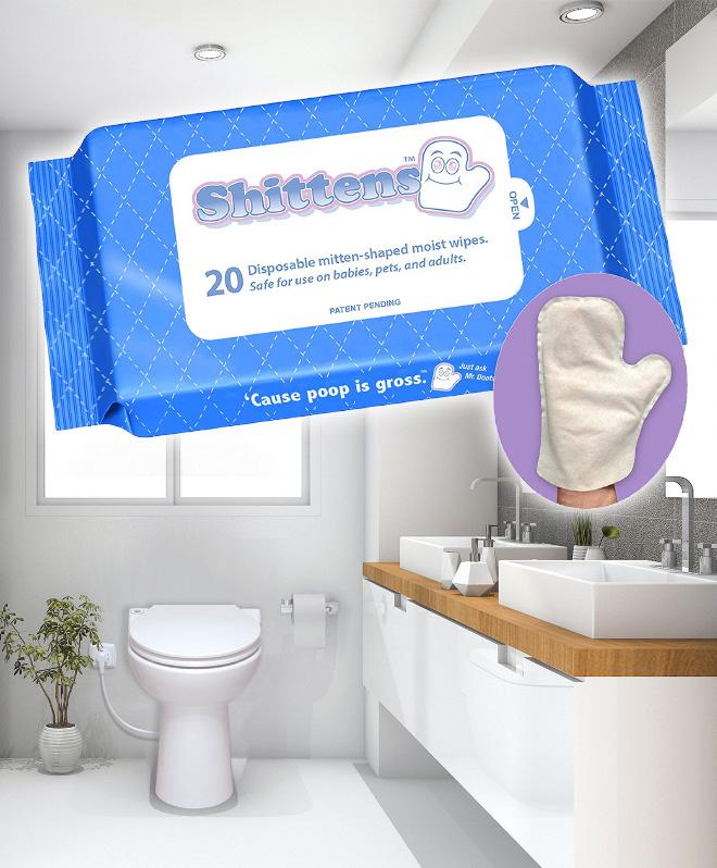 Shittens uma luva para usar no lugar do papel higiênico