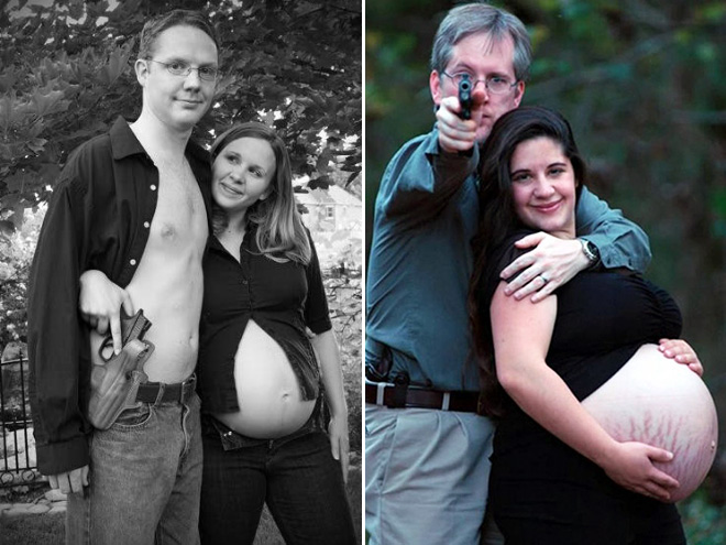 22 fotos estranhas de gravidez