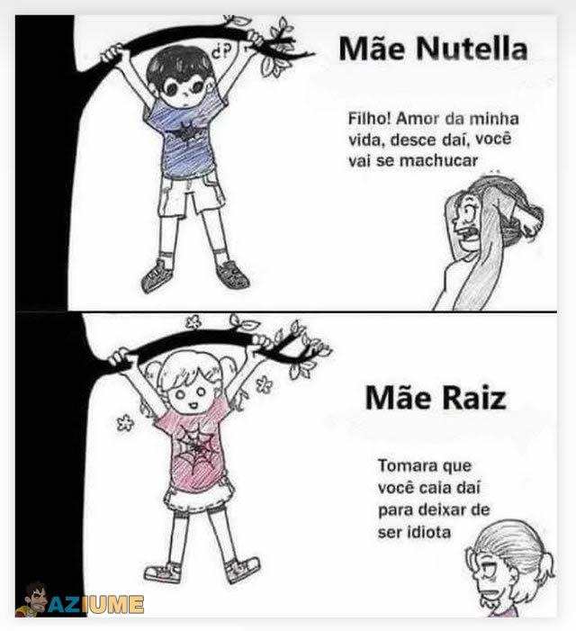 Diferença entre mãe Nutella e Raiz