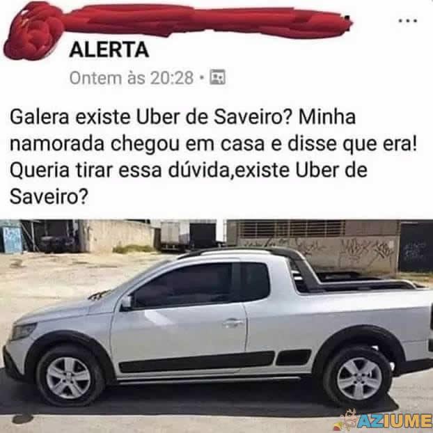 Existem Uber de Saveiro?