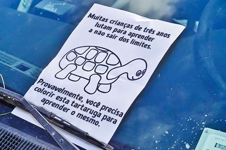 14 vezes em que pessoas deixaram recados engraçados para motoristas ruins