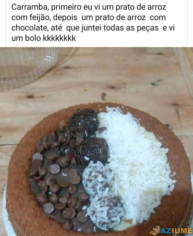 Um prato de arroz com feijão?